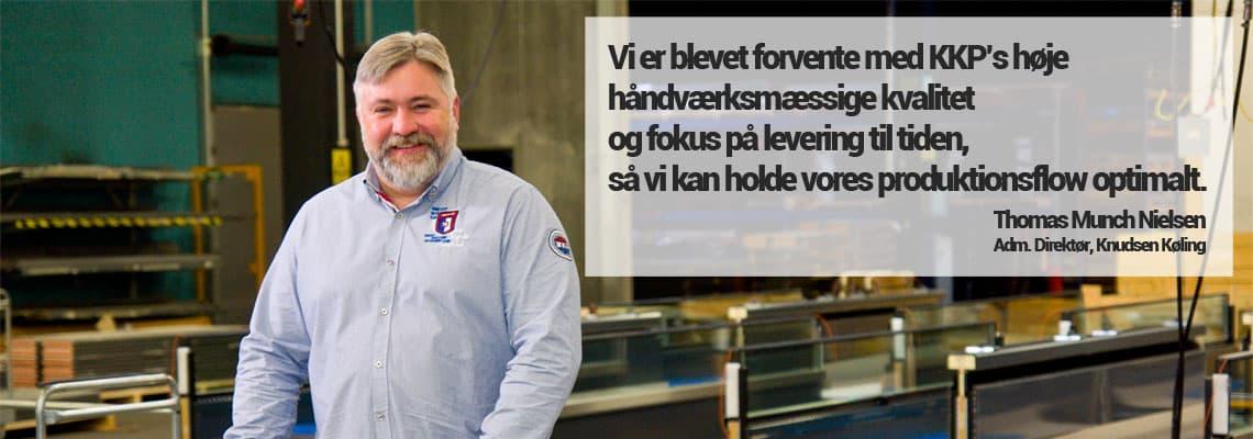 Billede af Knudsen Køling direktør Thomas Munch Nielsen.